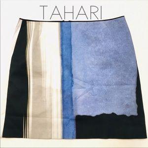 3/$50 Elie Tahari watercolor colorblock skirt 14